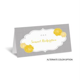Peeking Flowers - Place Card