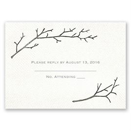 Beneath the Branches - Response Card and Envelope