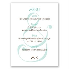 wedding menu cards invitations by dawn