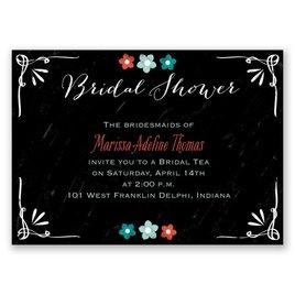 Chalkboard Flowers - Mini Bridal Shower Invitation