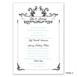 Victorian Flourish - Invitation