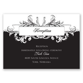 Victorian Flourish - Reception Card