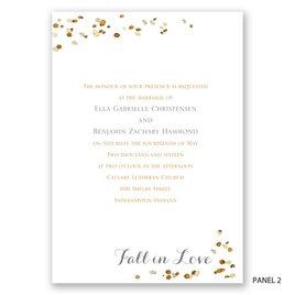 Fall in Love - Trifold Invitation