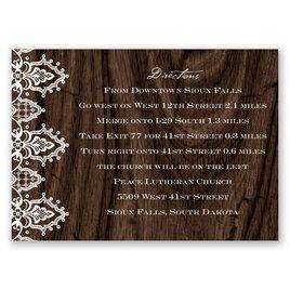 Wedding Map Cards: Romantic Finish Map Card