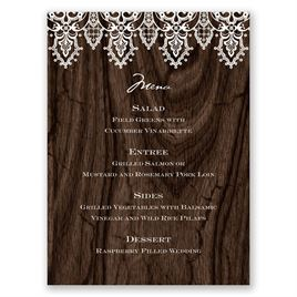 Romantic Finish - Menu Card