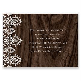 Romantic Finish - Reception Card