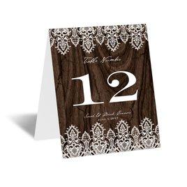 Wedding Reception Decorations: Romantic Finish Table Card