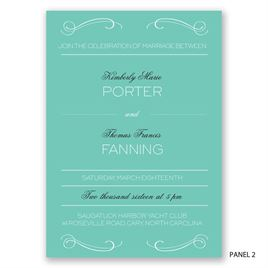Elegantly Etched - Invitation