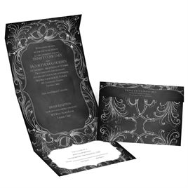 Chalkboard Beauty - Seal and Send Invitation