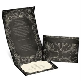 Chalkboard Beauty - Ecru - Seal and Send Invitation