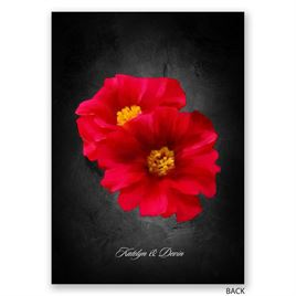 Brilliant Floral - Cherry - Invitation