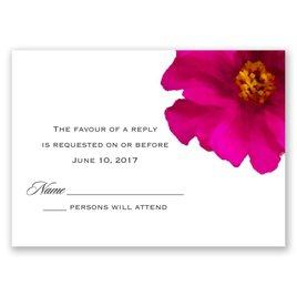 Brilliant Floral - Fuchsia - Response Card