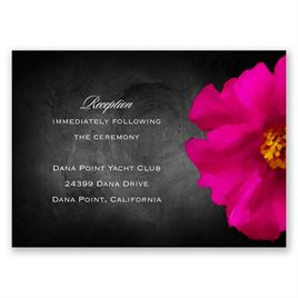 Brilliant Floral - Fuchsia - Reception Card