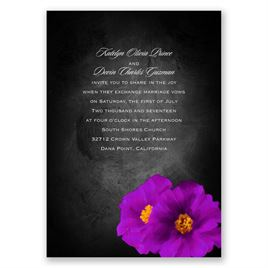 Brilliant Floral - Grapevine - Invitation