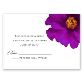 Brilliant Floral - Grapevine - Response Card