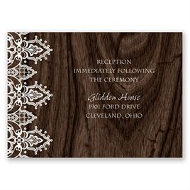 Belleza Natural - Reception Card