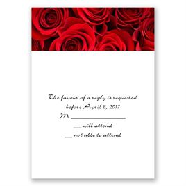 Rosas Rojas - Response Card and Envelope