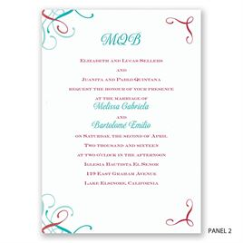 Amor - Trifold Invitation