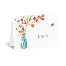 Mason Jar: Autumn Arrangement Thank You Card
