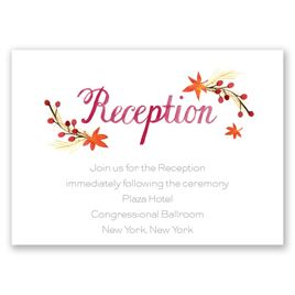 Autumn Arrangement - Reception Card