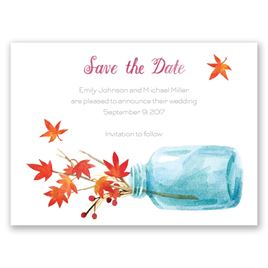 Autumn Arrangement - Save the Date Card
