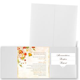 Last of Fall - White Shimmer - Pocket Invitation