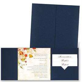 Last of Fall - Navy - Pocket Invitation