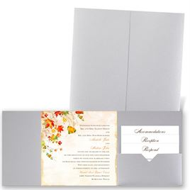 Last of Fall - Silver Shimmer - Pocket Invitation