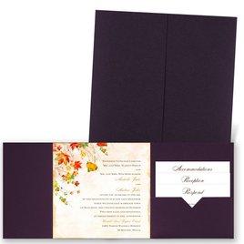 Last of Fall - Eggplant - Pocket Invitation