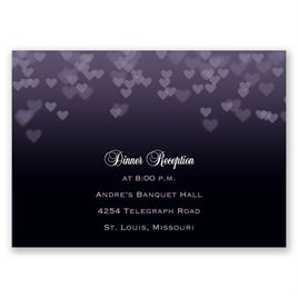 Shades of Love - Reception Card