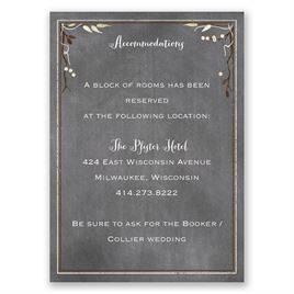 Chalkboard Autumn - Accommodations Card