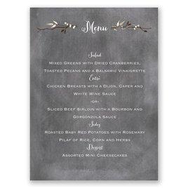 Chalkboard Autumn - Menu Card