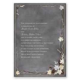 Chalkboard Autumn - Sterling - Invitation