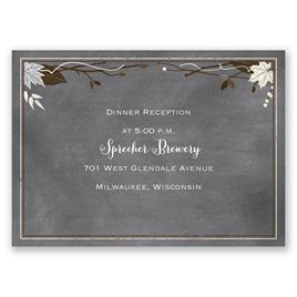 Chalkboard Autumn - Sterling - Reception Card