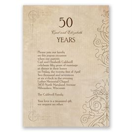 Antique Filigree - Anniversary Invitation