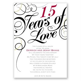 Years of Love - Anniversary Invitation