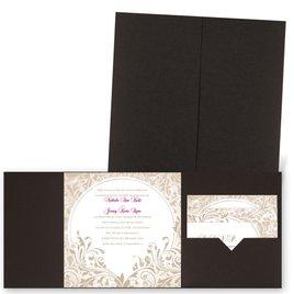 Damask Moon - Brown Shimmer - Pocket Invitation
