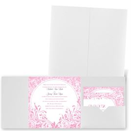 Damask Moon - White Shimmer - Pocket Invitation