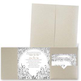 Damask Moon - Gold Shimmer - Pocket Invitation