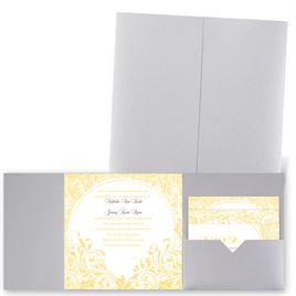 Damask Moon - Silver Shimmer - Pocket Invitation