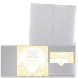 Damask Moon - Silver Shimmer - Pocket Invitation