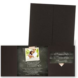 Favorite Photo - Brown Shimmer - Pocket Invitation