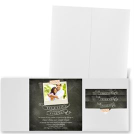Favorite Photo - White Shimmer - Pocket Invitation