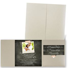 Favorite Photo - Gold Shimmer - Pocket Invitation