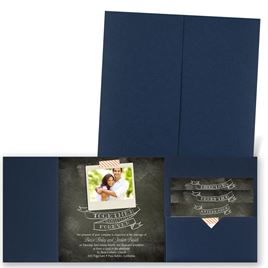 Favorite Photo - Navy - Pocket Invitation