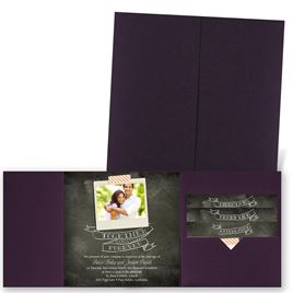 Favorite Photo - Eggplant - Pocket Invitation