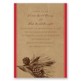 Pine Tree Treasures - Cherry - Invitation