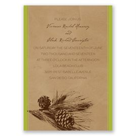 Pine Tree Treasures - Granny Apple - Invitation