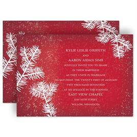 winter wedding invitations invitations by dawn