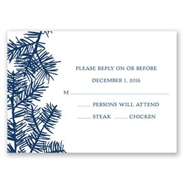 Snowy Pines - Navy - Response Card